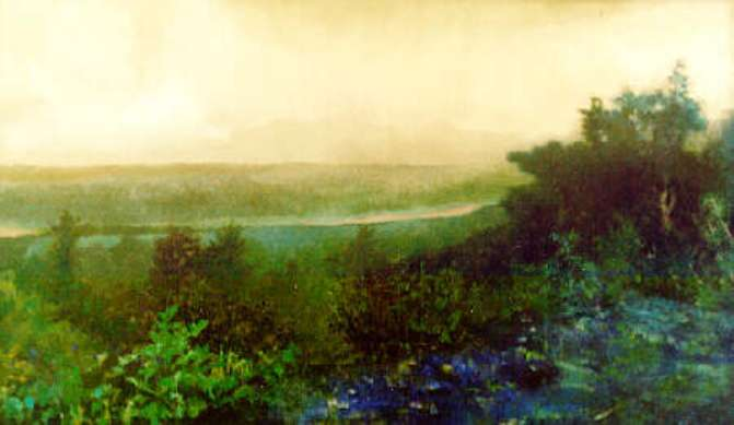 View of the Hudson Valley by F E Green 1994